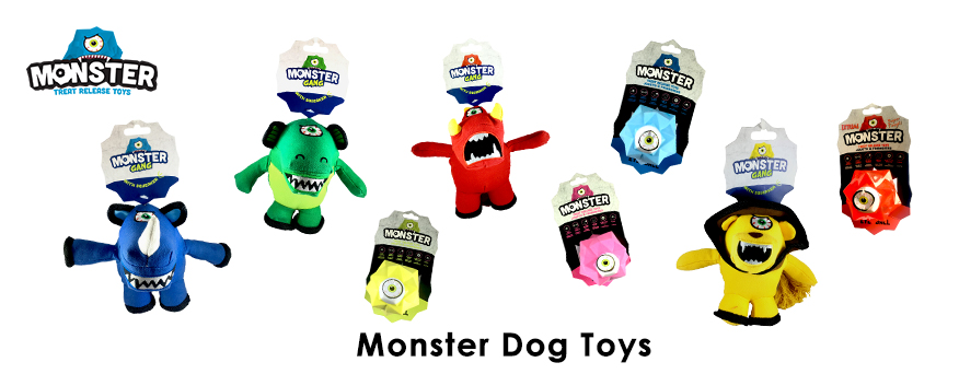 Monster dog toys